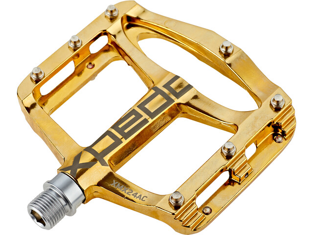 Xpedo Spry+ Pedalen, gold slick